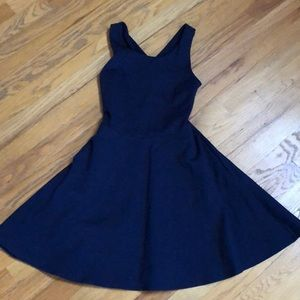 Navy blue semi-formal dress